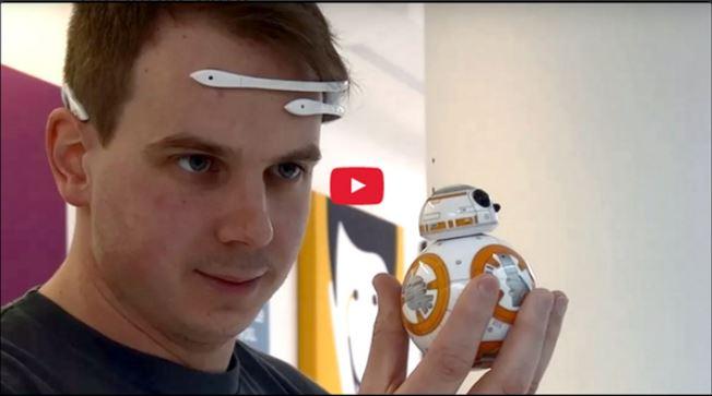 """¡Utiliza """"La Fuerza""""! Mueve un robot BB-8 con el poder de tu mente"""